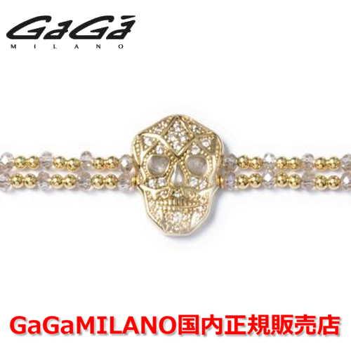 【国内正規品】GaGa MILANO ガガミラノ Men's Ladies/メンズ レディース It Bracelet/ItブレスレットITB SKULL/スカル YG/WHT