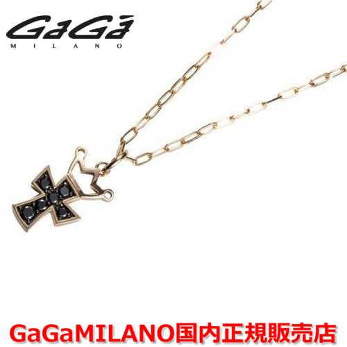 【国内正規品】GaGa MILANO ガガミラノ Men's/メンズ Ladies/レディース K18 CROSS NECKLACE/クロスネックレス(M) クロス/ブラックダイヤモンド(M)