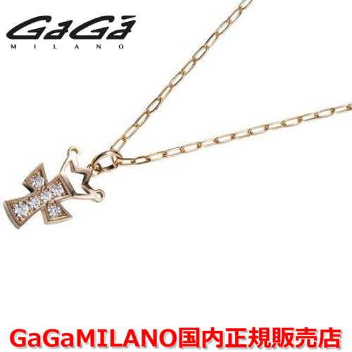 【国内正規品】GaGa MILANO ガガミラノ Men's/メンズ Ladies/レディース K18 CROSS NECKLACE/クロスネックレス(M) クロス/ダイヤモンド(M)