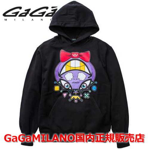 【国内正規品】GaGa MILANO/ガガミラノ Men's/Ladies メンズ/レディース パーカー GA-0054PK ブラック BLACK 黒 CHARACTER/キャラクター