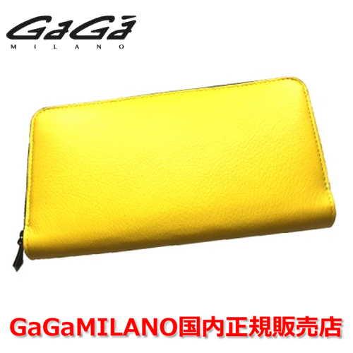 【国内正規品】GaGa MILANO ガガミラノ Men's Ladies/メンズ レディース 財布 ZIP AROUND/ジップアラウンド YELLOW/イエロー 黄