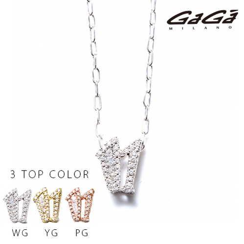 【国内正規品】GaGa MILANO ガガミラノ Men's Ladies/メンズ レディース K10 NUMBER WHITE DIAMOND/ナンバーホワイトダイヤモンド NECKLACE/ネックレス 番号