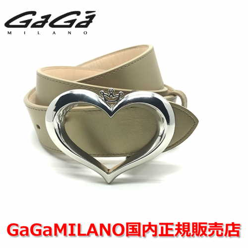 【国内正規品】GaGa MILANO ガガミラノ Men's Ladies/メンズ レディース ハート バックル ベルト GOLD ゴールド/金 40mm