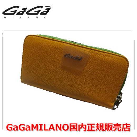 【国内正規品】GaGa MILANO ガガミラノ Men's Ladies/メンズ レディース 財布 212 イエロー/ライトグリーン YELLOW/LIGHT GREEN 黄/黄緑