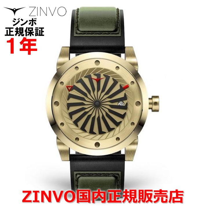 【国内正規品】ZINVO ジンボ メンズ 腕時計 GOLD ゴールド