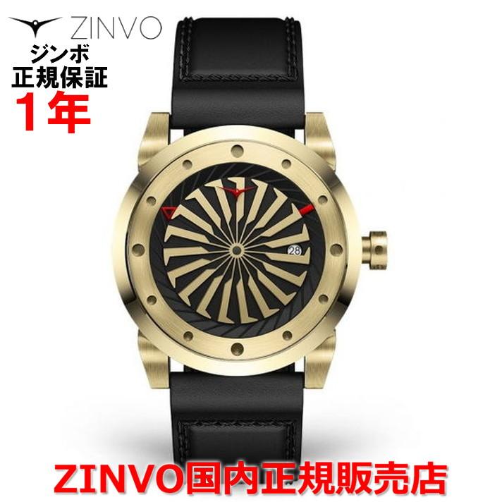 【国内正規品】ZINVO ジンボ メンズ 腕時計 12K GOLD 12Kゴールド