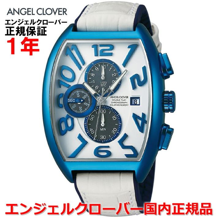 【国内正規品】ANGEL CLOVER エンジェルクローバー 腕時計 ソーラー ウォッチ メンズ ダブルプレイソーラー DOUBLE PLAY SOLAR DPS38BNV-WH