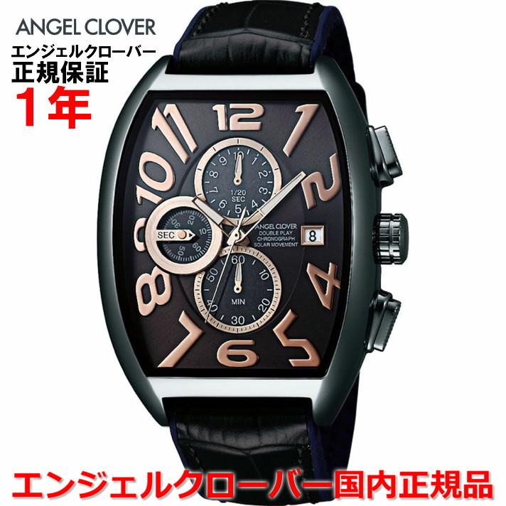 【国内正規品】ANGEL CLOVER エンジェルクローバー 腕時計 ソーラー ウォッチ メンズ ダブルプレイソーラー DOUBLE PLAY SOLAR DPS38GY-BK