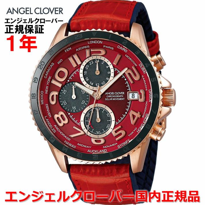 【国内正規品】ANGEL CLOVER エンジェルクローバー 腕時計 ソーラー ウォッチ メンズ モンドソーラー MONDO SOLAR MOS44PRE-RE