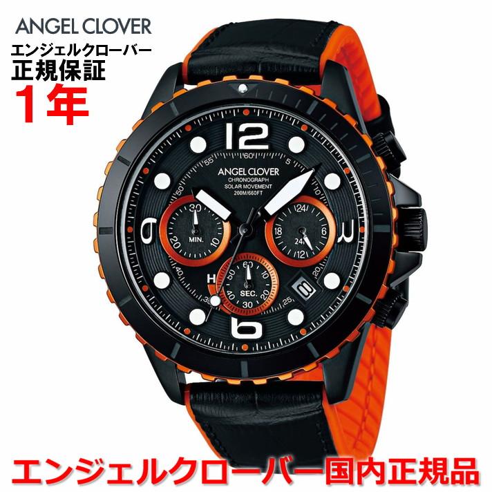 【国内正規品】ANGEL CLOVER エンジェルクローバー 腕時計 ソーラー ウォッチ メンズ タイムクラフトダイバー TIME CRAFT DIVER TCD45BK-BK