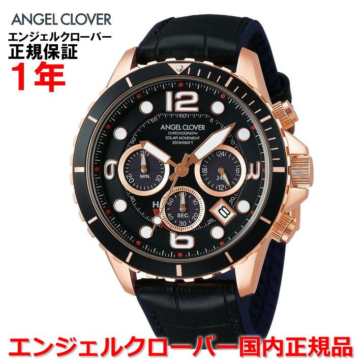 【国内正規品】ANGEL CLOVER エンジェルクローバー 腕時計 ソーラー ウォッチ メンズ タイムクラフトダイバー TIME CRAFT DIVER TCD45PBK-BK