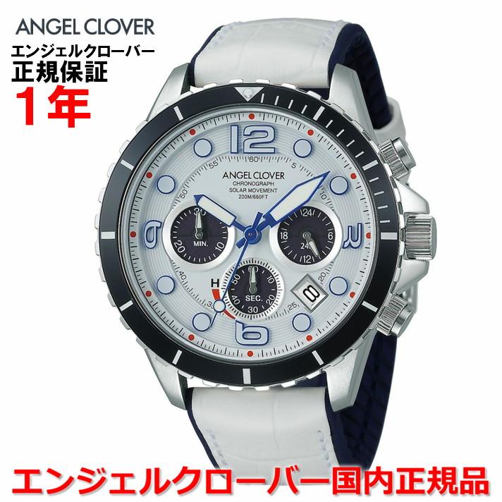 【国内正規品】ANGEL CLOVER エンジェルクローバー 腕時計 ソーラー ウォッチ メンズ タイムクラフトダイバー TIME CRAFT DIVER TCD45SWH-WH