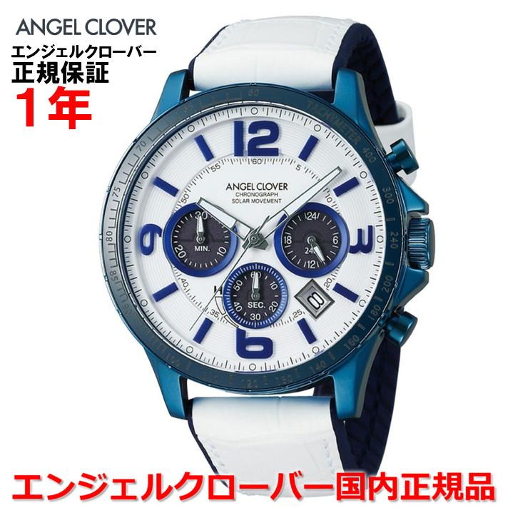 【国内正規品】ANGEL CLOVER エンジェルクローバー 腕時計 ソーラー ウォッチ メンズ タイムクラフト TIME CRAFT TCS44BNV-WH