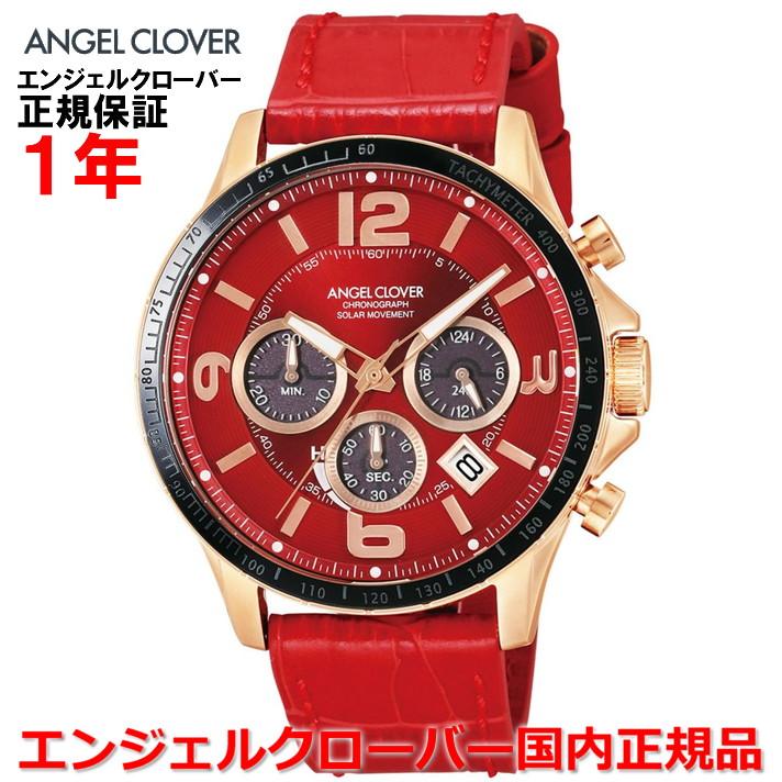 【国内正規品】ANGEL CLOVER エンジェルクローバー 腕時計 ソーラー ウォッチ メンズ タイムクラフト TIME CRAFT TCS44PG-RE