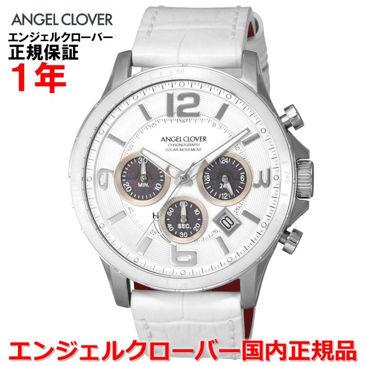 【国内正規品】ANGEL CLOVER エンジェルクローバー 腕時計 ソーラー ウォッチ メンズ タイムクラフト TIME CRAFT TCS44SWH-WH