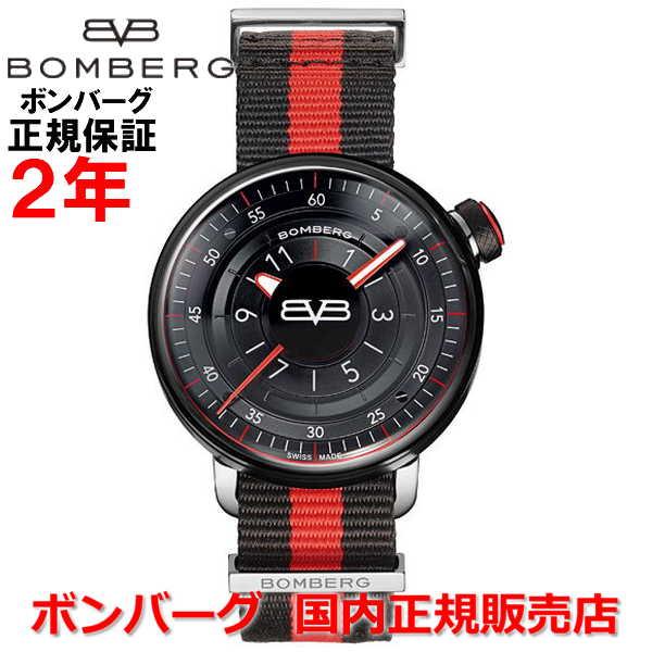 懐中時計としても使用可 国内正規品 BOMBERG ボンバーグ メンズ 腕時計 クオーツ BB-01 ブラック&レッド BB-01 BLACK & RED GENT CT43H3PBA.01-2.9:Jewelry&Watch LuxeK