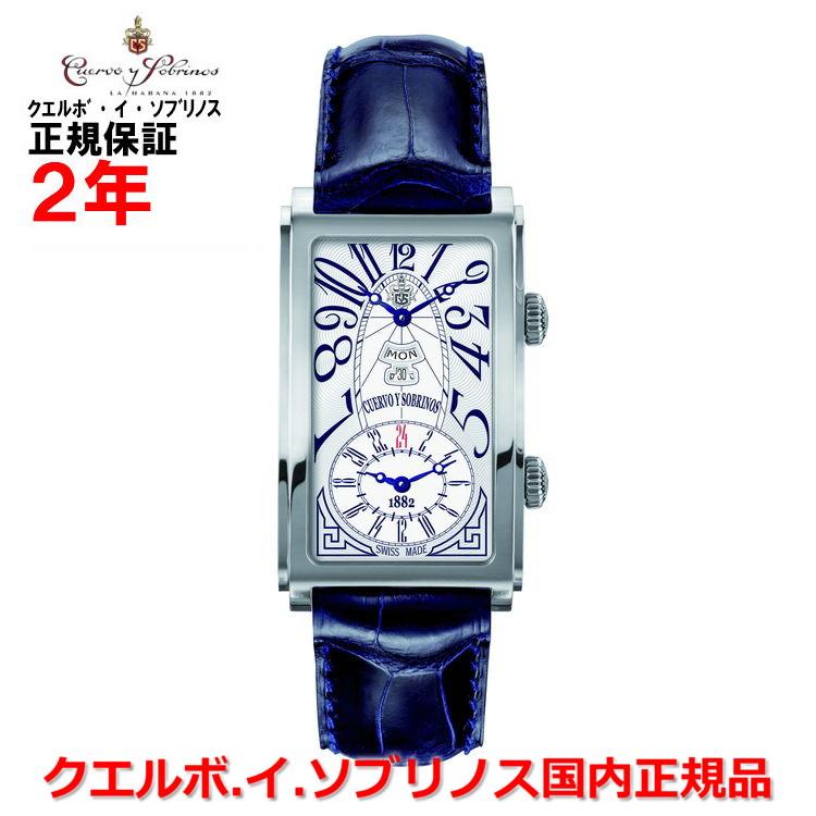 【国内正規品】Cuervo y Sobrinos クエルボ・イ・ソブリノス 腕時計 ウォッチ メンズ PROMINENTE DUALTIME DAYDATE プロミネンテ デュアルタイム デイデイト 1124-1AAG