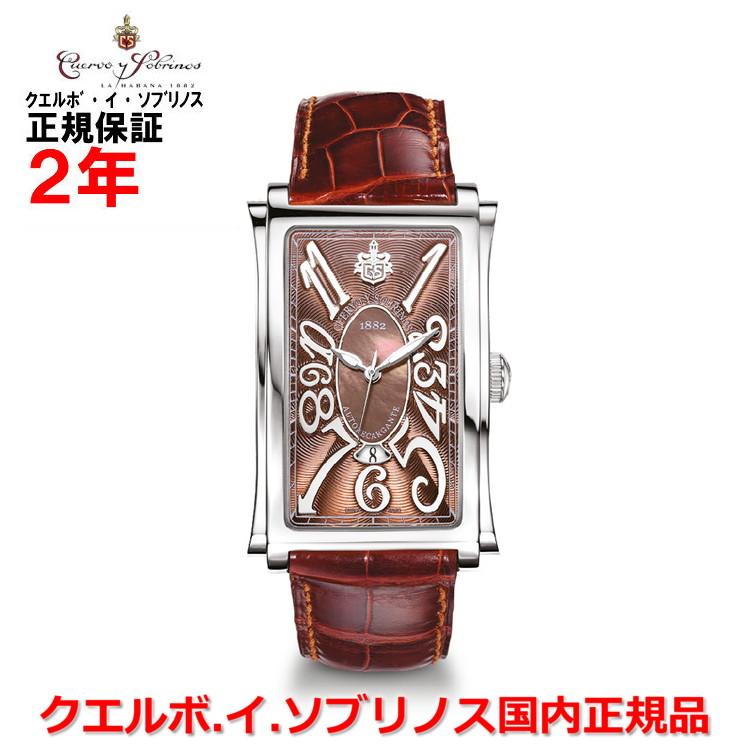 【国内正規品】Cuervo y Sobrinos クエルボ・イ・ソブリノス 腕時計 ウォッチ メンズ PROMINENTE SOLO TIEMPO プロミネンテ ソロテンポ デイト 1012.1RM