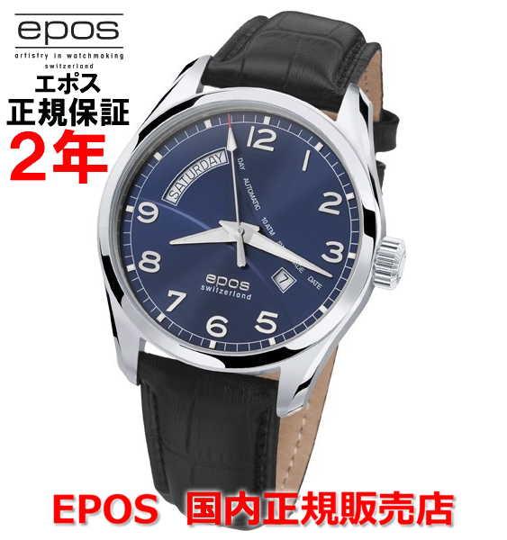国内正規品 EPOS エポス メンズ 腕時計 自動巻 PASSION DAY DATE パッション デイト 3402NBL