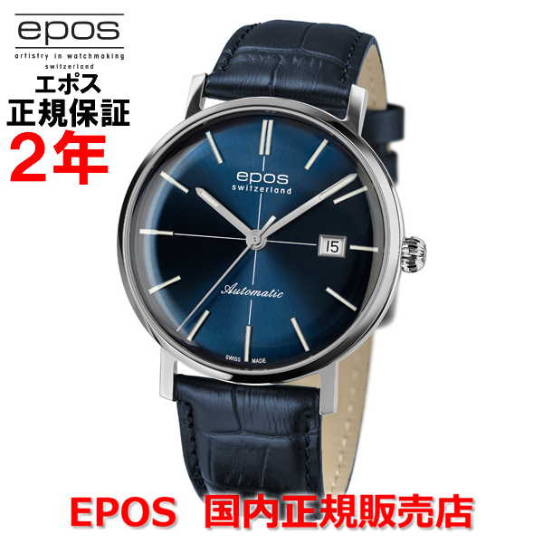 国内正規品 EPOS エポス メンズ 腕時計 自動巻 Originale Retro オリジナーレ レトロ 3437BL