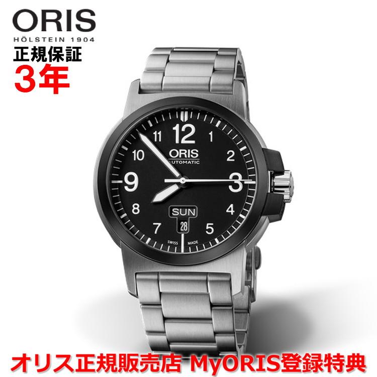 【国内正規品】 ORIS オリス BC3 アドバンスド デイデイト 42mm Advanced Day Date メンズ 腕時計 ウォッチ 自動巻き ステンレススティールブレス ブラック文字盤 黒 01 735 7641 4364-07 8 22 03