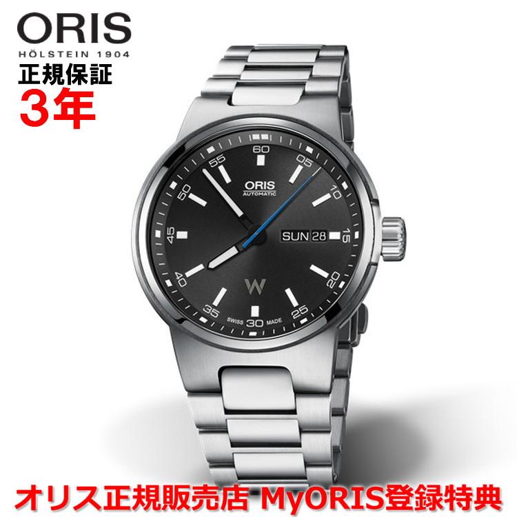 【国内正規品】 ORIS オリス ウィリアムズ デイデイト 42mm Williams メンズ 腕時計 ウォッチ 自動巻き ステンレススティールブレスレット ブラック文字盤 黒 01 735 7716 4154-07 8 24 50