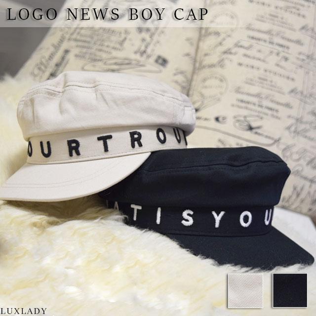 オシャレなロゴでオシャレにアクセント デザイン 新商品 ロゴ 大決算セール キャスケット ブラック 帽子 ホワイト ベージュ レディース