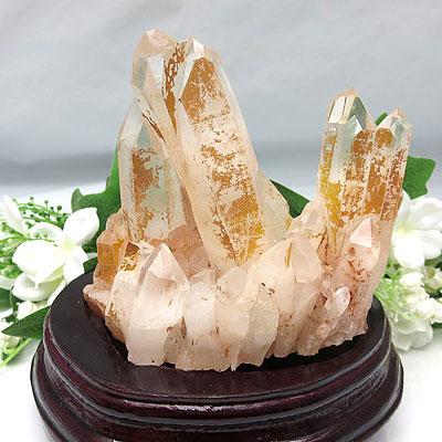 スーパーSALE20%OFFピンク水晶クラスター マダガスカル産 水晶クラスター 開運置物 風水 インテリア 天然石 パワーストーン 置き物 浄化 【ol】