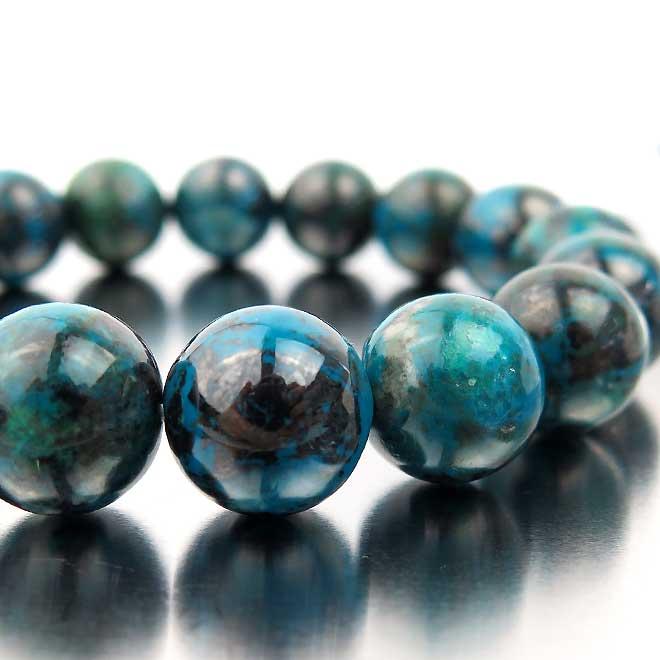 スーパーSALE20%OFFクリソコラ ブレスレット 天然石 パワーストーン ブレスレット 珪孔雀石 クリソコラ ブレス 13mm