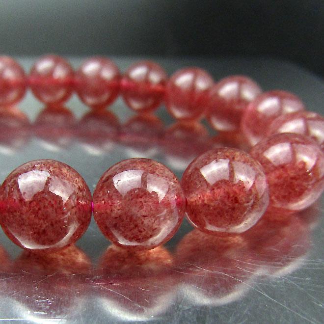 スーパーSALE20%OFFストロベリークォーツ ブレスレット 天然石 パワーストーン ピンクエピドート ブレス 10mm 苺水晶