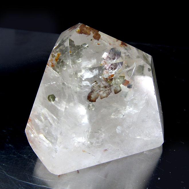 ブラジル産 迅速な対応で商品をお届け致します ヘマタイトインクォーツ 置物 天然石 パワーストーン 浄化 i4878 スーパーSALE20%OFF ヘマタイト入り水晶