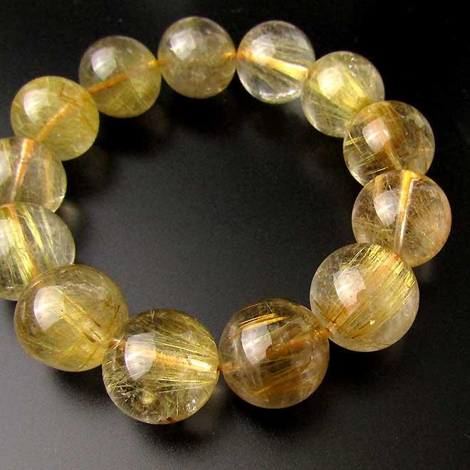 スーパーSALE20%OFFルチルクォーツ(ゴールドルチル) 16mm 大玉 ゴールドルチル 金運 パワーストーン 天然石 レディース メンズ 大玉 ブレスレット 天然石 パワーストーン 針入水晶(はりいりすいしょう) ブレス
