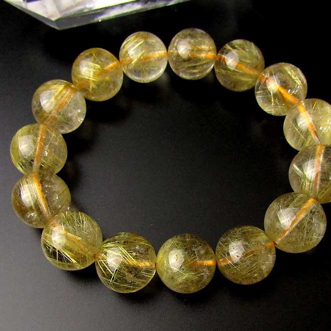 スーパーSALE20%OFFルチルクォーツ(ゴールドルチル) 15mm 大玉 ゴールドルチル 金運 パワーストーン 天然石 レディース メンズ 大玉 ブレスレット 天然石 パワーストーン 針入水晶(はりいりすいしょう) ブレス