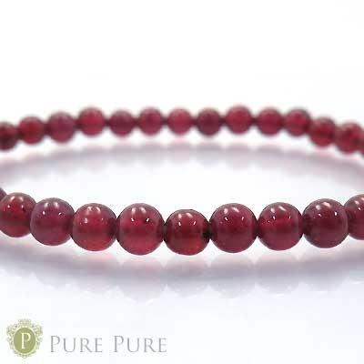 ルビー ブレスレット 無色含侵 天然石 パワーストーン ブレスレット 紅玉 ルビー ブレス 5.5mm あす楽