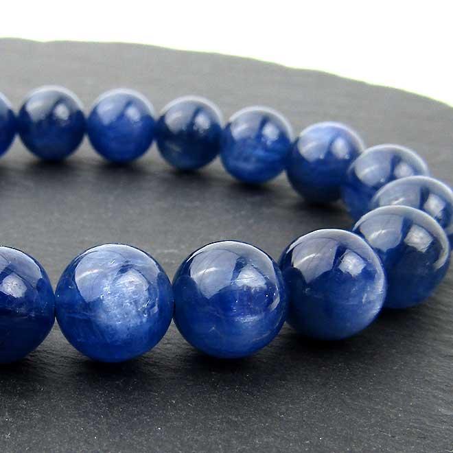 ◇限定Special Price カイヤナイト 高品質 ブレスレット 天然石 パワーストーン 07-4907 SH ブレス 10mm 藍晶石
