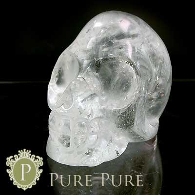 スーパーSALE20%OFF水晶髑髏 置物 天然石 パワーストーン 浄化 天然石 パワーストーン 置物 お守り インテリア クリスタル 水晶 どくろ ドクロ