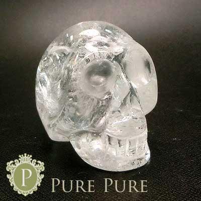水晶髑髏 置物 天然石 パワーストーン 浄化 天然石 パワーストーン 置物 お守り インテリア クリスタル 水晶 どくろ ドクロ あす楽