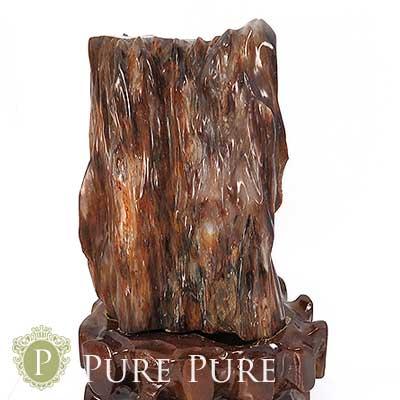 木化石 置物 天然石 パワーストーン 浄化 天然石 パワーストーン 置物 お守り インテリア 化石 台座付き あす楽