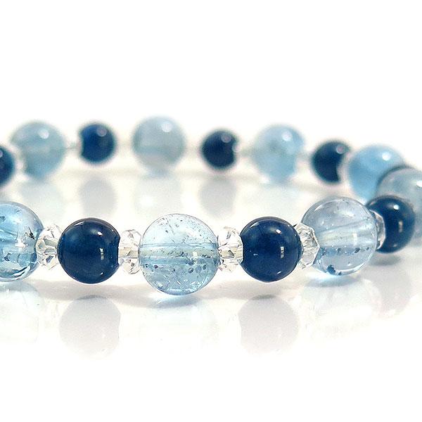 スーパーSALE20%OFF高品質 ブルートパーズ ブルーアパタイト キャッツ ブレスレット 天然石 パワーストーン ブレスレット ブレス