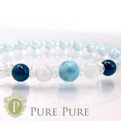 スーパーSALE20%OFFラリマー ブレスレット 天然石 パワーストーン ブレスレット ムーンストーン ブルーアパタイト ブルートパーズ ブレス