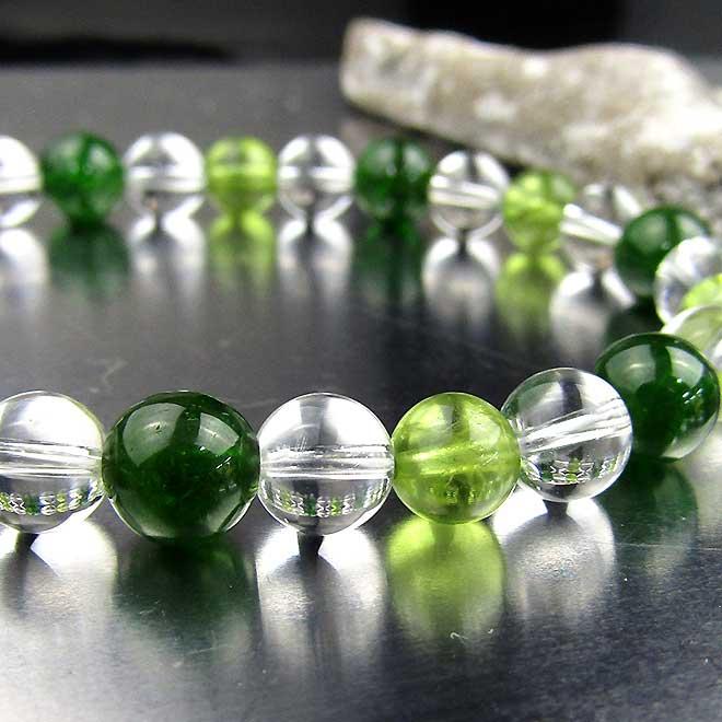 スーパーSALE20%OFFクロムダイオプサイト ブレスレット 天然石 パワーストーン ペリドット 水晶 ブレス