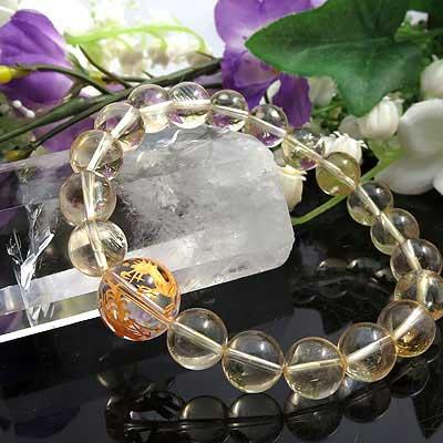 四神 水晶 ブレスレット 天然石 パワーストーン ブレスレット シトリン ブレス メンズ
