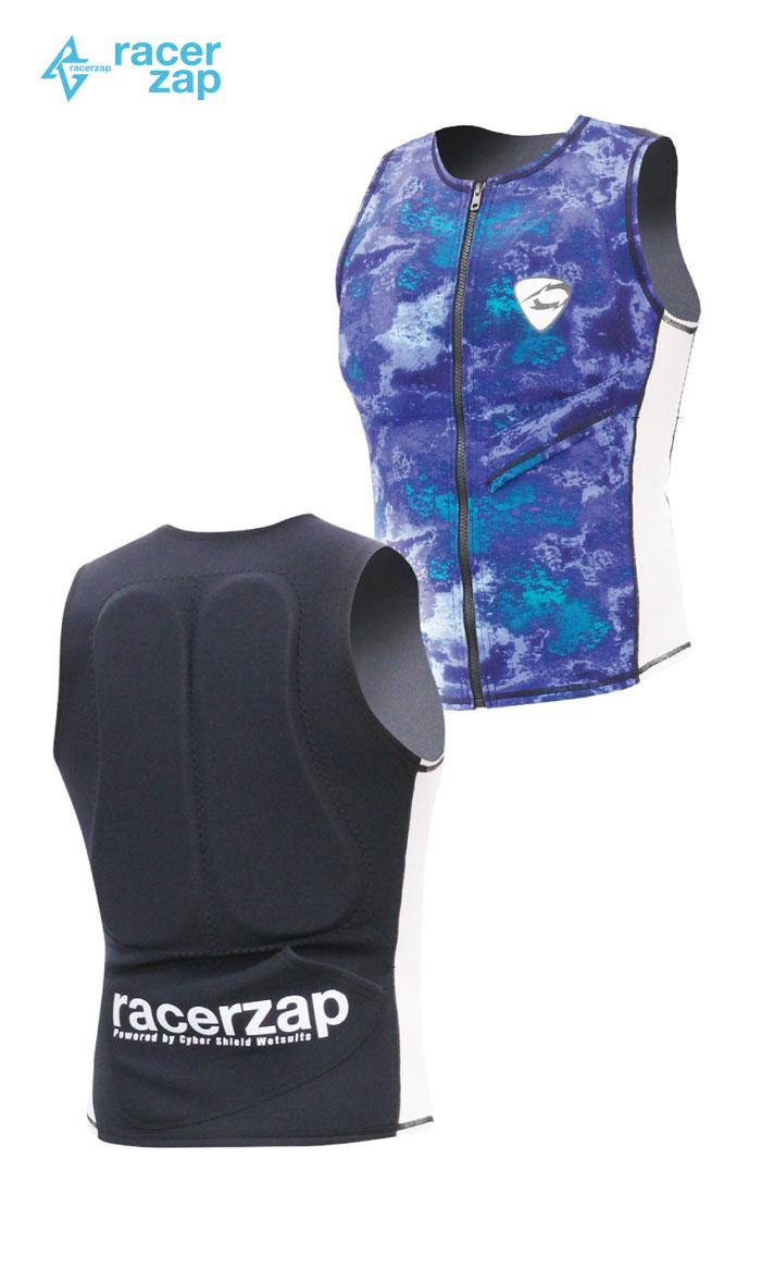 RACERZAP レーサーザップ MENS Water Support VEST (シーサイドロック/ホワイト) SUP サップ ウェットスーツ サポートスーツ 1mm 男性用 メンズ 送料無料 バレンタイン