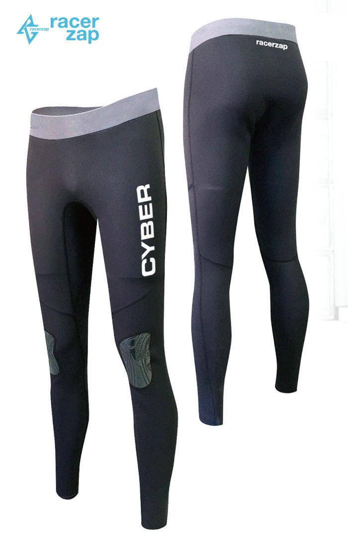 RACERZAP レーサーザップ MENS Ultimate 1mm Skinny Pants (ブラック/グレー/ブラック) SUP サップ ウェットスーツ サポートスーツ 1mm 男性用 メンズ 送料無料 父の日