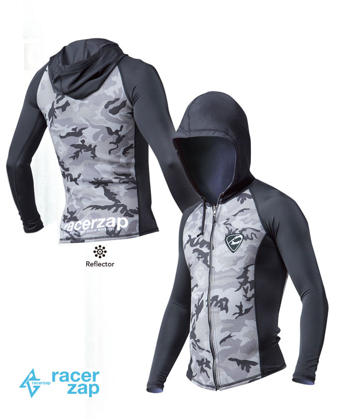 RACERZAP レーサーザップ RZ SummerHOODIED (ミリタリー/ブラック) SUP サップ ジャケット 1mm ウェットスーツ サポートスーツ 男性用 メンズ 送料無料