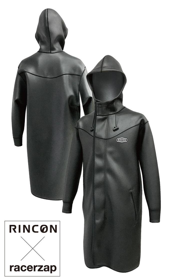 RACERZAP レーサーザップ RZ Winter BOAT COAT (ブラック) SUP サップ ロングコート ジャケット ウェットスーツ サポートスーツ 男性用 メンズ 送料無料 父の日