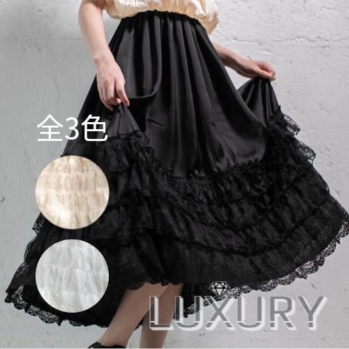 ロリータ SweetDreamer Vintage 4段フリル68cmペチコート インナースカートのみ 重ね 甘ロリ 姫ロリ loli1015