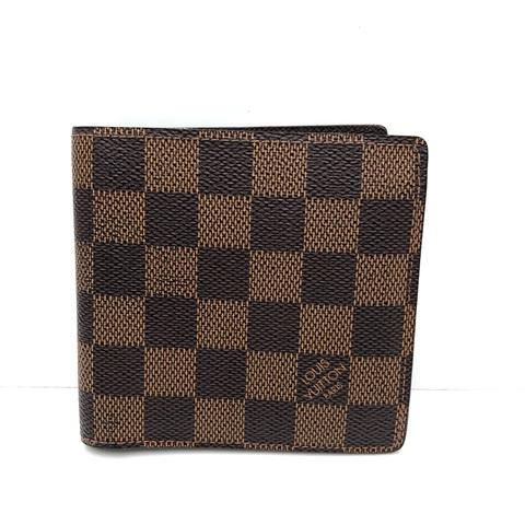 LOUISVUITTON ルイヴィトン ポルトフォイユ マルコ 2つ折り 財布 ダミエ 中古品 本物 豪華な 驚きの値段 送料無料 キャンバス 送料込み N61675