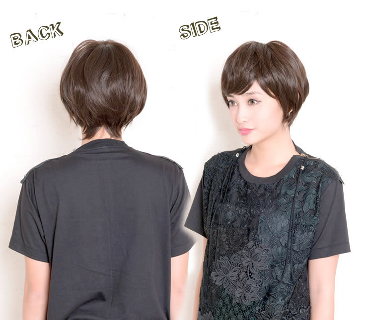Wig short boyish wig [wg049] heat resistance wig raven-black hair short wig full wig net AQUADOLL aqua Dole || belonging to Wig extension costume play wig [宅送] ||
