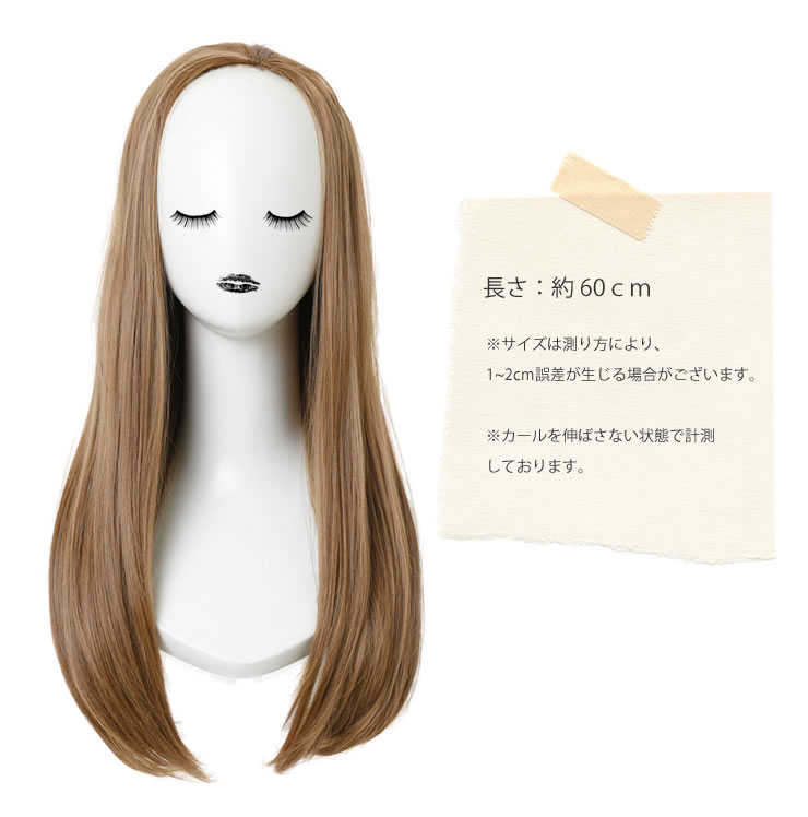Wig extension || Pure straight long half wig [wgt046] heat resistance extension wig wig wedding ceremony AQUADOLL aqua Dole [宅送] ||